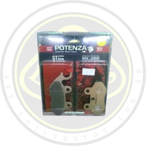 pastilha de freio dianteira ou traseira dafra citycom 300 i potenza ptz264kxt com nota