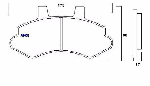 pastilha de freio dianteira  silverado turbo hd -  syl 1106