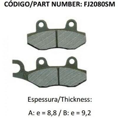 pastilha de freio dianteira v-blade fj2080sm - fischer