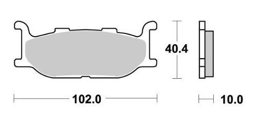 pastilha de freio dianteira yamaha xvs 650 drag star
