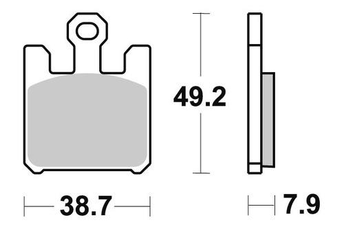 pastilha de freio dianteiro derbi 659 mulhacen ano 2005