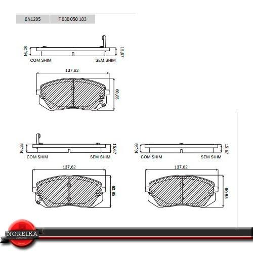 pastilha de freio dianteiro hyundai ix35 2.0 16v 2011/...