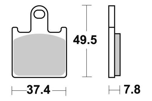 pastilha de freio dianteiro kawasaki z 750 r ano 2011 a 2014