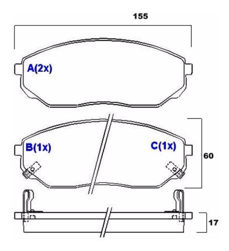 pastilha de freio dianteiro kia sorento 2002/2009  syl 2278