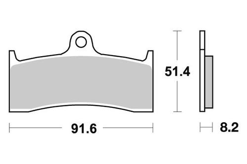pastilha de freio dianteiro mv agusta 750 f4 spr ano 01 a 05