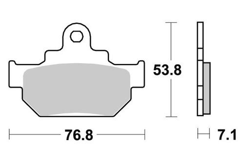 pastilha de freio dianteiro suzuki vl 125 intruder lc