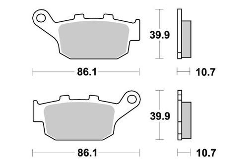 pastilha de freio traseira honda cb 500f ano 2013 a 2015