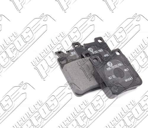 pastilha de freio traseira mercedes (r129) sl55 amg 99-01