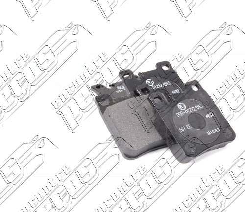 pastilha de freio traseira mercedes w202/s202 c43 amg 97/01