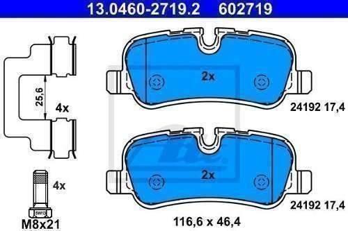 pastilha de freio traseira range rover 3 l322 2005 original