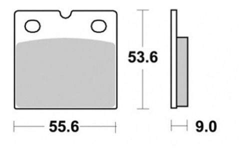 pastilha de freio traseiro suzuki gsx 750f anos 98 a 09 tk