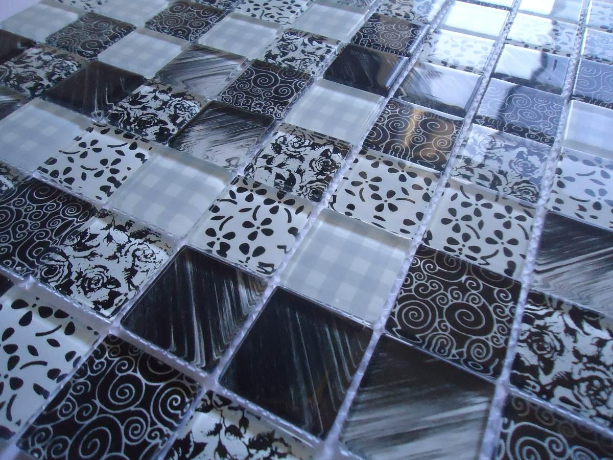 Pastilha De Vidro Decorada Mosaicos_revestimentos_cristal R  ~ Cozinha Decorada Com Pastilhas