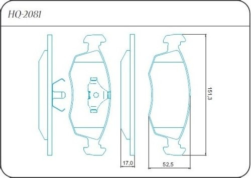 pastilha dianteira bendix palio weekend siena 97/98 hq2081