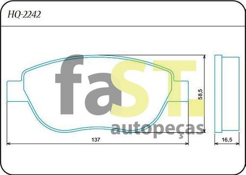 pastilha dianteira bendix peugeot 207 1.6 sw aircross hq2242