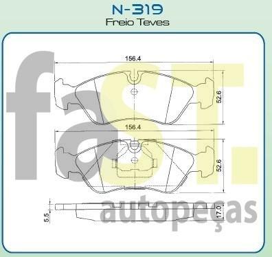 pastilha dianteira cobreq astra omega suprema vectra n319