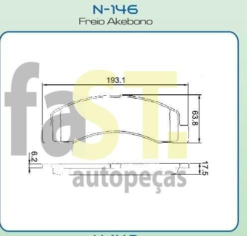 pastilha dianteira cobreq f250 e f4000  n146