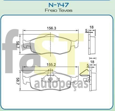 pastilha dianteira cobreq mondeo 1.6 1.8 2.0 zetec 16v n147