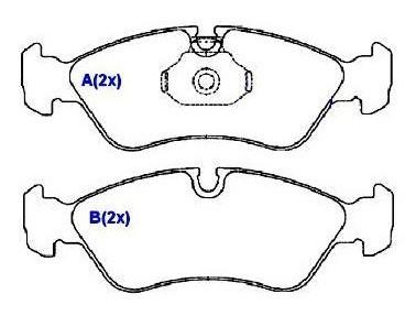 pastilha dianteira syl astra omega vectra calibra 94/ 1081