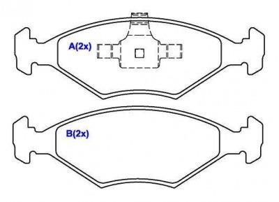 pastilha dianteira syl fiat siena palio 1.0 1.4 09/ s2184