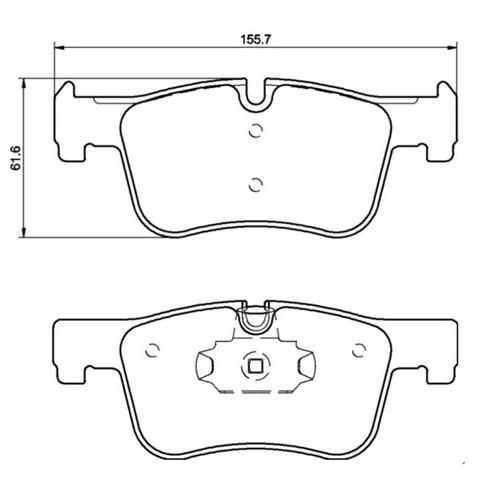 pastilha + disco + sensor dianteiro e traseiro 320i 2015 -