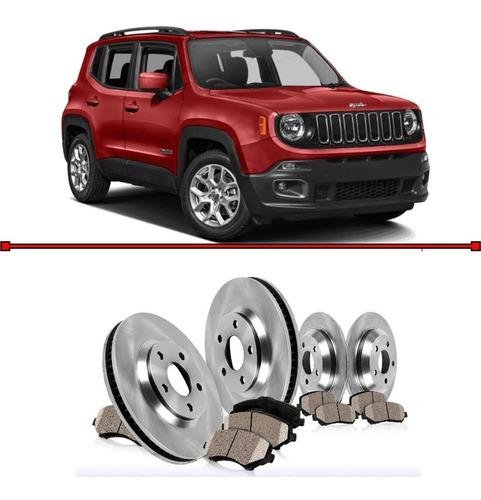 pastilha e disco freio dianteiro e traseira renegade 2016 -