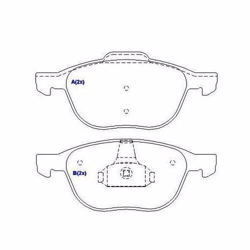pastilha freio bendix dianteira ecosport 2.0 focus volvo