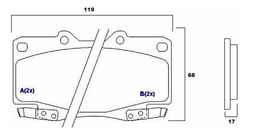 pastilha freio diant. hilux 4x2/4x4  05 a março/09  syl 1388