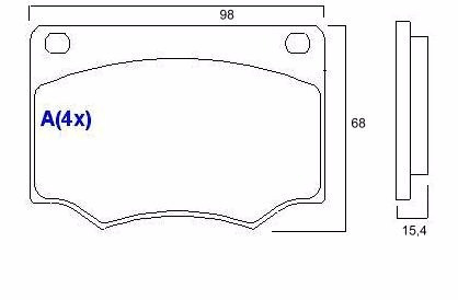 pastilha freio diant. puma gtb 77/84 sistema varga  syl 1088