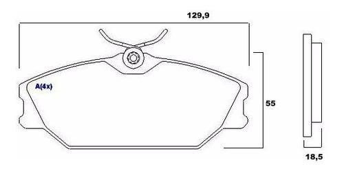 pastilha freio diant. scenic 96/.. megane hatch 97/ syl 1348