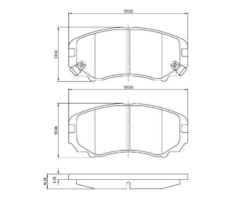 pastilha freio dianteira hyundai tucson 2.0 2011 - 2016