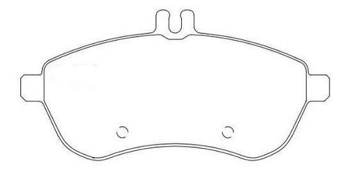 pastilha freio dianteira mercedes c180 cgi ano: partir 2007