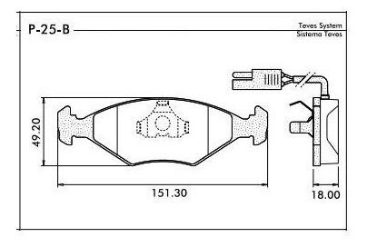 pastilha freio dianteira palio 1998 até 2007 teves syl1195