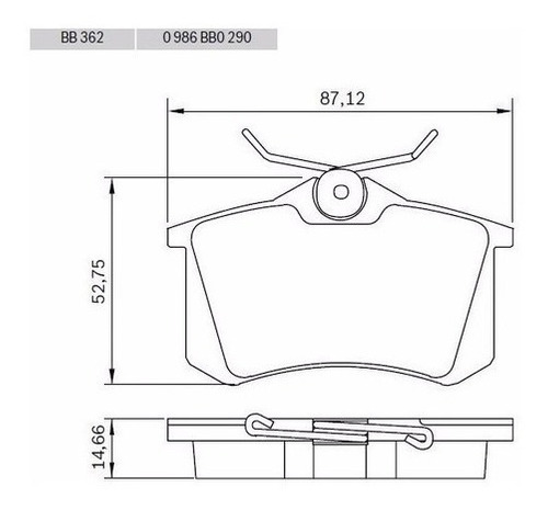 pastilha freio dianteira traseira bosch t-cross 1.0 1.4 tsi