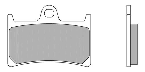 pastilha freio dianteira yamaha mt07 sinterizada vermelha