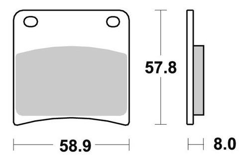 pastilha freio dianteiro suzuki gsx 750 f katana ano 89 a 96