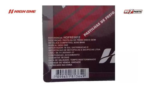 pastilha freio disco high one tipo shimano m395 m446 10pares