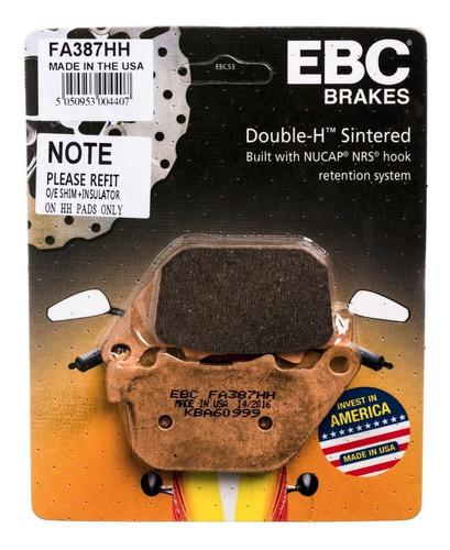 pastilha freio ebc traseira harley xl1200 xr1200 883 fa387hh