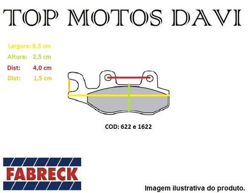 pastilha freio fabreck racing kansas 150/250 vblade 250 2844