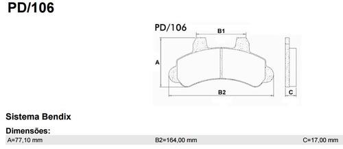 pastilha freio ford gm f1000/turbo/bonanza/veraneio/a20/c2