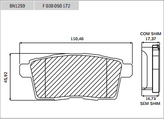 pastilha freio traseira cerâmica bosch mazda cx-7 mzr