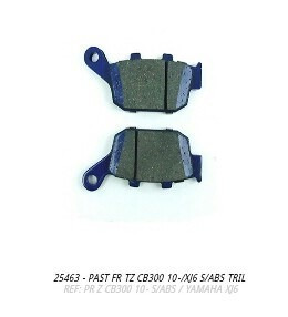 pastilha freio traseiro cb300 sem/abs
