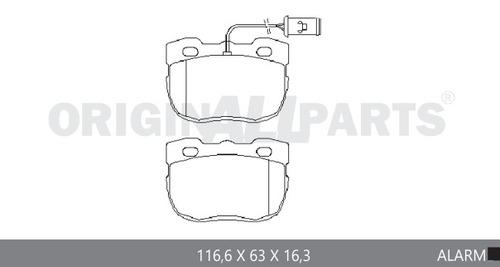 pastilha freio traseiro range rover 5.0 v8 sport/ ls 09...
