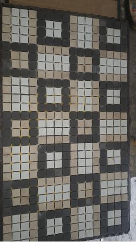pastilha mosaico 2x2 jatobá