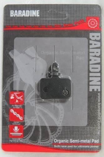 pastilha p/ freio à disco marca baradine alivio/deore/acera