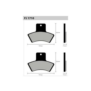 pastilha polaris 250 xplorer 4x4 00 e/d tras - fischer 12200