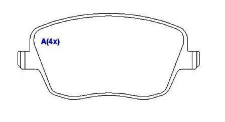 pastilha polo 1.0 1.6 1.8 2.0 aro 15 cordoba ibiza 2002 2003
