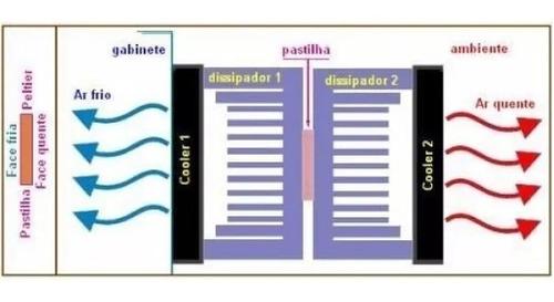 pastilha termoelétrica peltier bebedouro/purificador latina