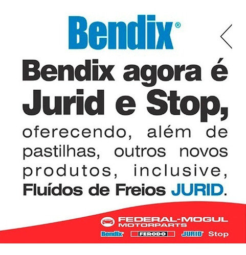pastilha traseira bendix ford fusion/ novo fusion hq2213