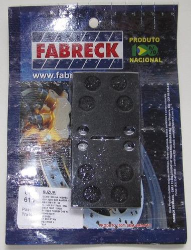 pastilha traseira suzuki gsx 750f gsxf750 1989 a 2008 = fa63