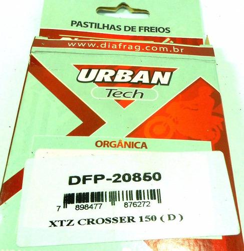 pastilha xtz crosser 150 dianteira diafrag dfp 20850
